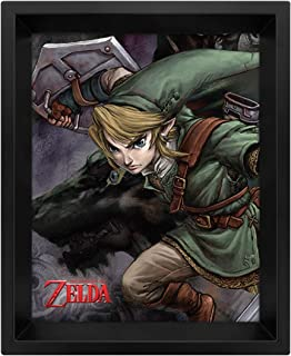 Pyramid International Legend of Zelda Twilight Princess Framed 3D Lenticular Poster Pack 26 x 20 cm (3