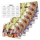 Fotoprix Calendarios de bolsillo personalizado con tu foto | Pack de 8 unidades | Calendarios de cartera 2021 | Calendario 2021 de bolsillo | Calendario con fotos | Tamaño: Horizontal (6,5 x 9,5 cm)