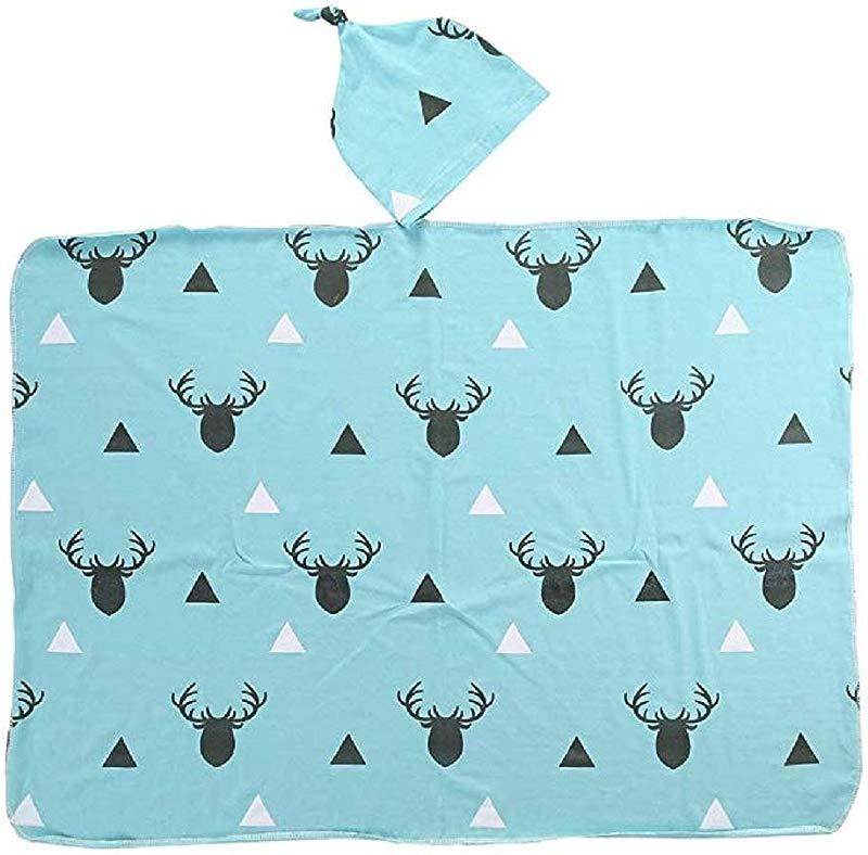 Toddler Newborn Infant Baby Boy Girl Deer Soft Stretch Wrap Swaddle Cotton Blanket Home Bath Towel