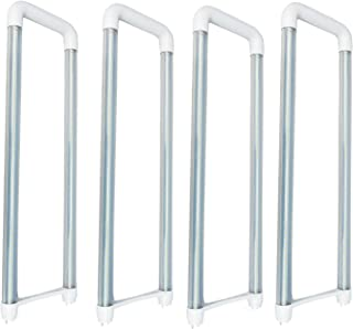 U Bend T8 LED Tube,4 Pack of 2ft 20Watt,Replacement for FB32T8 UBent Fluorescent Tube,100-277V Input,2000LM,Super Bright Clear Lens,LM-79 Test Passed (4-Pack 5500K Daylight White)