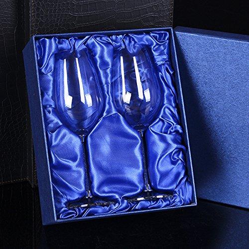 JARONG Tasse À Vin Rouge Crystal Bar Sans Plomb 470Ml,Gobelets De Mariage