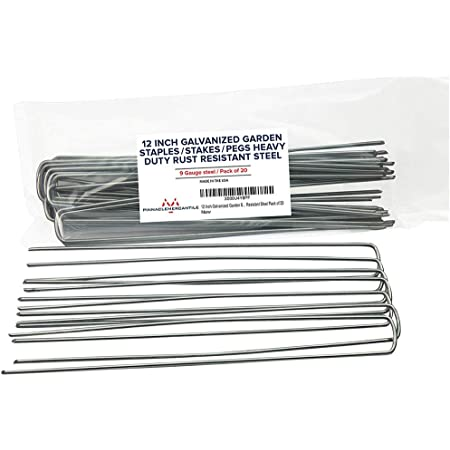20 Pack Vinyl Coated Steel Plant Stakes 12 gauge Wire 15/'/' w//clips /& rubber