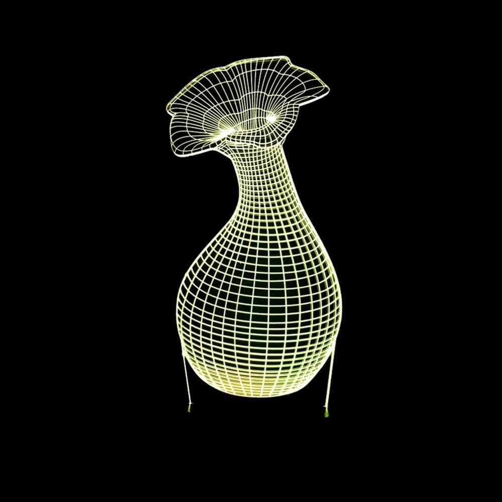 Jzhi outlet Bowose Lamp Vase LED 3D Gradient Super sale period limited Stereoscopic Colorful