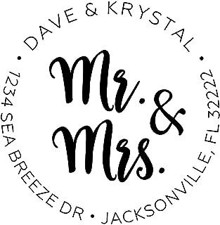 Personalized Mr. and Mrs. Wedding Return Address Stamps   Engagement Return Address Stamps   Personalized Wedding Invitation Stamps   Return Address Stamps
