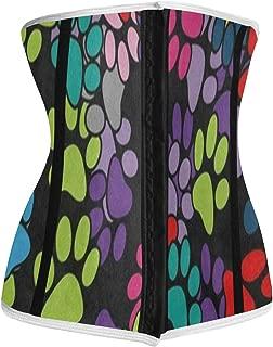 Colored Paw Print Best Neoprene Womens Waist Trainer Corset Sweat Vest Weight Loss Body Shaper Workout Tops