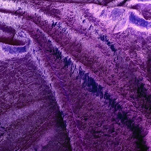 TOLKO 1m Pannesamt als Meterware Edel glänzender Stretch Samt-Stoff zum Nähen Dekorieren | 145cm breit Kleidungsstoff Dekostoff Modestoff Polyesterstoff für Vorhänge Gardinen Bühne (Aubergine)