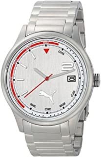 Puma Wheel 3HD - L Metal Silver Mens watch #PU102731005