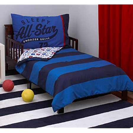 Amazon Com Carter S 4 Piece Toddler Set Blue White Red All Star 52 X 28 Baby