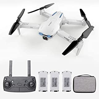Goolsky- S162 RC Drone con Cámara GPS Ajustable Gran Angular 4K 5G WiFi Foto de Gesto Vídeo MV FPV RC Quadcopter Sígueme Drone para Adultos 3 Batería