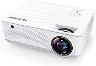 Native 1080P Projector,NICPOW 7200L Full HD Video Projector,±40° 4D Keystone Correction,Outdoor Movie Projector with Max 3...