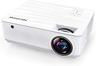 "Native 1080P Projector,NICPOW 7200L Full HD Video Projector,±40° 4D Keystone Correction,Outdoor Movie Projector with Max 300"" Display&50% Zoom,Compatible with TV Stick, PS4, HDMI,VGA,AV and USB"