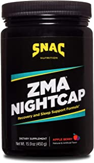 SNAC ZMA Nightcap Rapid Recovery Sleep Support Drink Mix, Apple Berry, 450 Grams (15.9 Ounce)