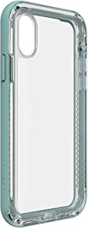 Lifeproof Next Series Case for iPhone Xs & iPhone X - Retail Packaging - Seaside/Transparent - with Alpha Glass Screen Protector
