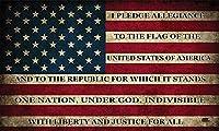 Rogue River Tactical アメリカ国旗ステッカー バンパー 車 デカール ギフト 愛国的 アメリカに着たアメリカ合衆国 忠誠の誓い (3x5インチ)