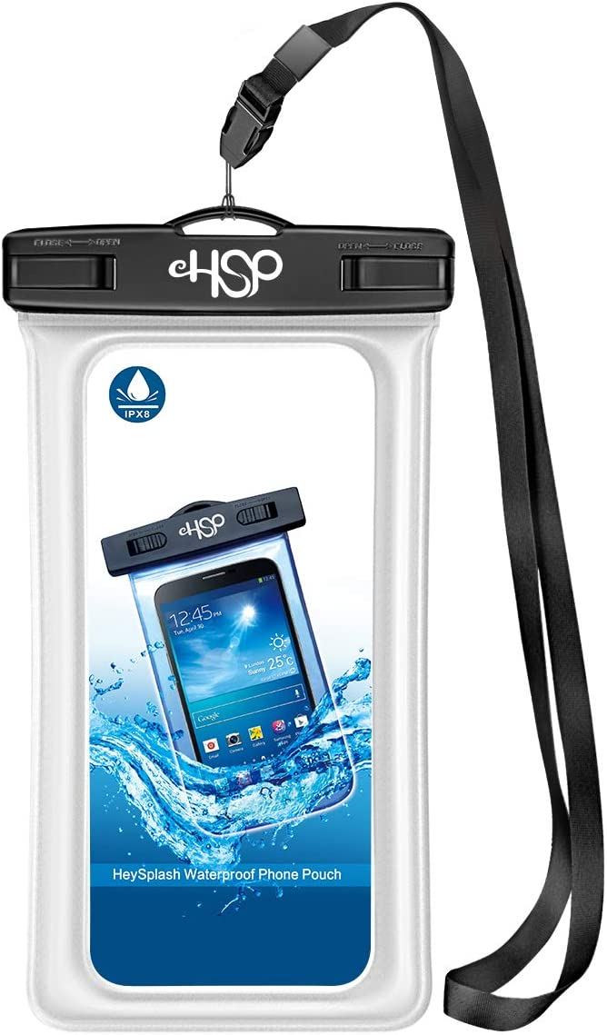 HeySplash Floating IPX8 Waterproof Phone Case, Underwater Dry Bag with Armband Neck Strap Phone Pouch for Beach SUP or Bathing, Compatible with New iPhone SE 2020 iPhone 11/11 Pro/11 Pro Max/8/7 Plus