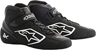 Alpinestars Tech 1-K Karting Shoes (Size: 11, Black/White)