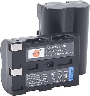 DSTE Replacement for 2X D-LI50 Li-ion Battery Compatible Pentax K10 K10D K20 K20D Camera as NP-400 SLB-1674 BP-21