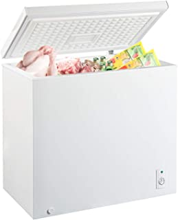 MYAL 7.0 Cubic Feet Chest Freezer with Removable Basket and Adjustable Thermostat, Top open Door Compact Freezer Store Mee...