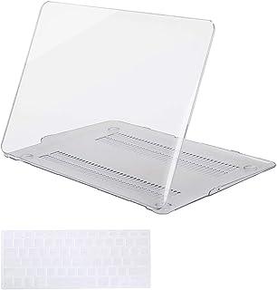 حافظة صلبة من البلاستيك من Mosiso مع غطاء لوحة مفاتيح لجهاز MacBook Air 13 بوصة (الطراز: A1369 وA1466)، شفافة كريستال