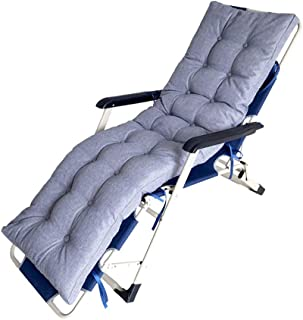 Xinrangxin Patio Recliner Pad, Non-Slip Padded Recliner Pad, Rocking Chair Cushion, Ideal for Indoor and Outdoor Garden Terrace Mattress, Zero Gravity Chair, Strong Breathability,Gray,17045cm