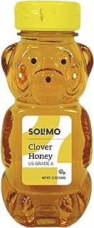 Amazon Brand - Solimo Clover Honey, 12 ounce