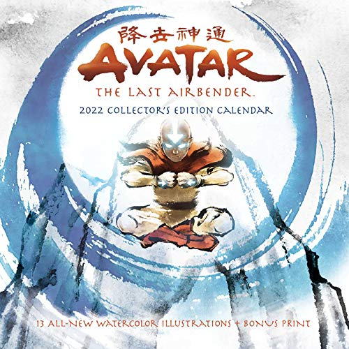 Avatar: The Last Airbender 2022 Collector's Edition Wall Calendar: with 13 all-new, exclusive watercolor illustrations + bonus print