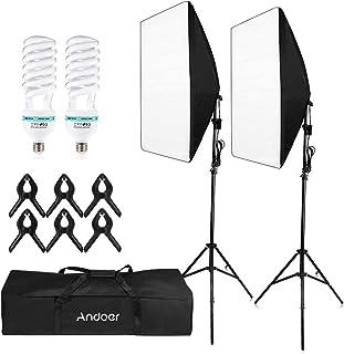 CHOSMO Photography Studio Cube Umbrella Softbox Light ligh-ting Tent Kit Photo Video Equipment 2 * 135W Bulb 2 * Tripod St...
