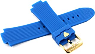 Swiss Legend 28MM Blue Silicone Watch Strap & Gold Stainless Buckle fits 49mm Legato Cirque Watch