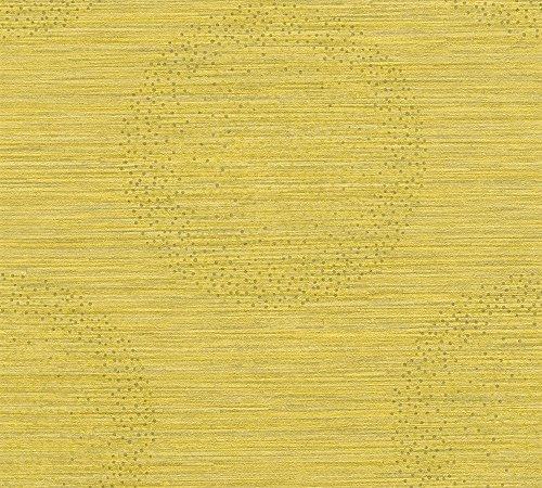 Livingwalls Vliestapete Titanium 2 Tapete 10,05 m x 0,53 m gelb metallic Made in Germany 360054 36005-4