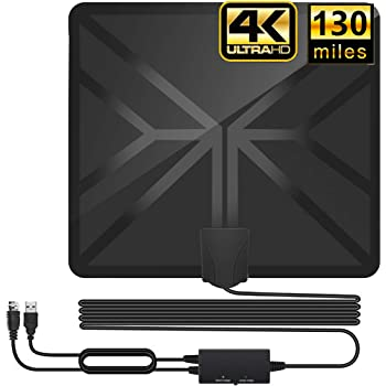 Totech Digital Amplified Indoor HD TV Antenna 80-120 Miles Range Upgraded 2020 Amplifier Signal Booster Support 4K 1080P Freeview Channels 16.5ft Coax Cable