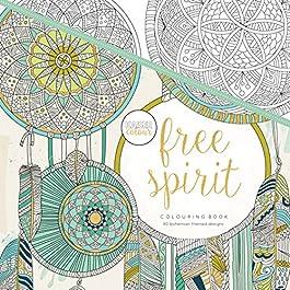 Kaisercraft Kaisercolour Perfect Bound Coloring Book Free Spirit, Acrylic, Multicolour, 24.89×24.38×0.76 cm