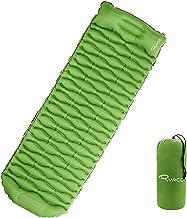 RYACO opblaasbaar slaapmatje campingmatras met kussen, 40D polyester waterdichte slaapmat Opvouwbare zelfopblazende kussen...