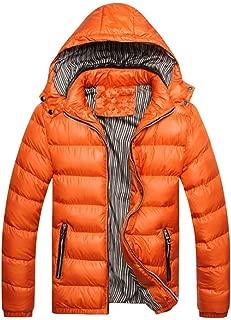 RomantcMen Winter Hood Zip-up Mid-Long Keep Warm Thick Down Coat