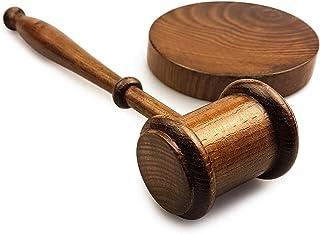 REFURBISHHOUSE Martelletto in legno martello asta asta con blocco audio per avvocato asta Richter fatto a mano