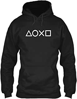 Joystick Buttons - Games, Gamer, Hobby, Play Premium Black Unisex Hoodie