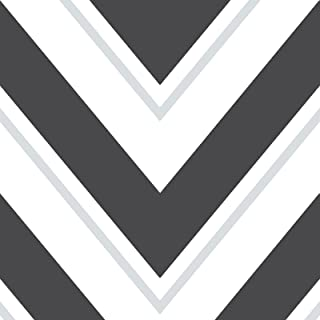 Rasch Chevron Wallpaper - Black and White - 304107