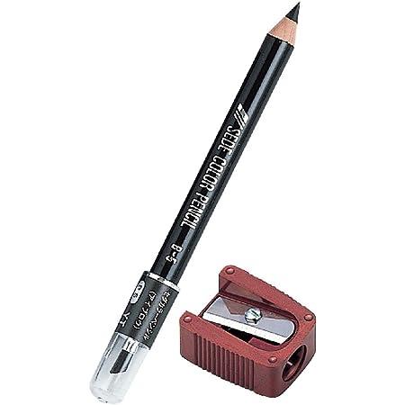 アイブロウ ペンシル カラーペンシル B5 ブラック シャープナー セット ( 鉛筆 眉毛鉛筆 まゆずみ 黒 ブラシ付 )【 セダ 】