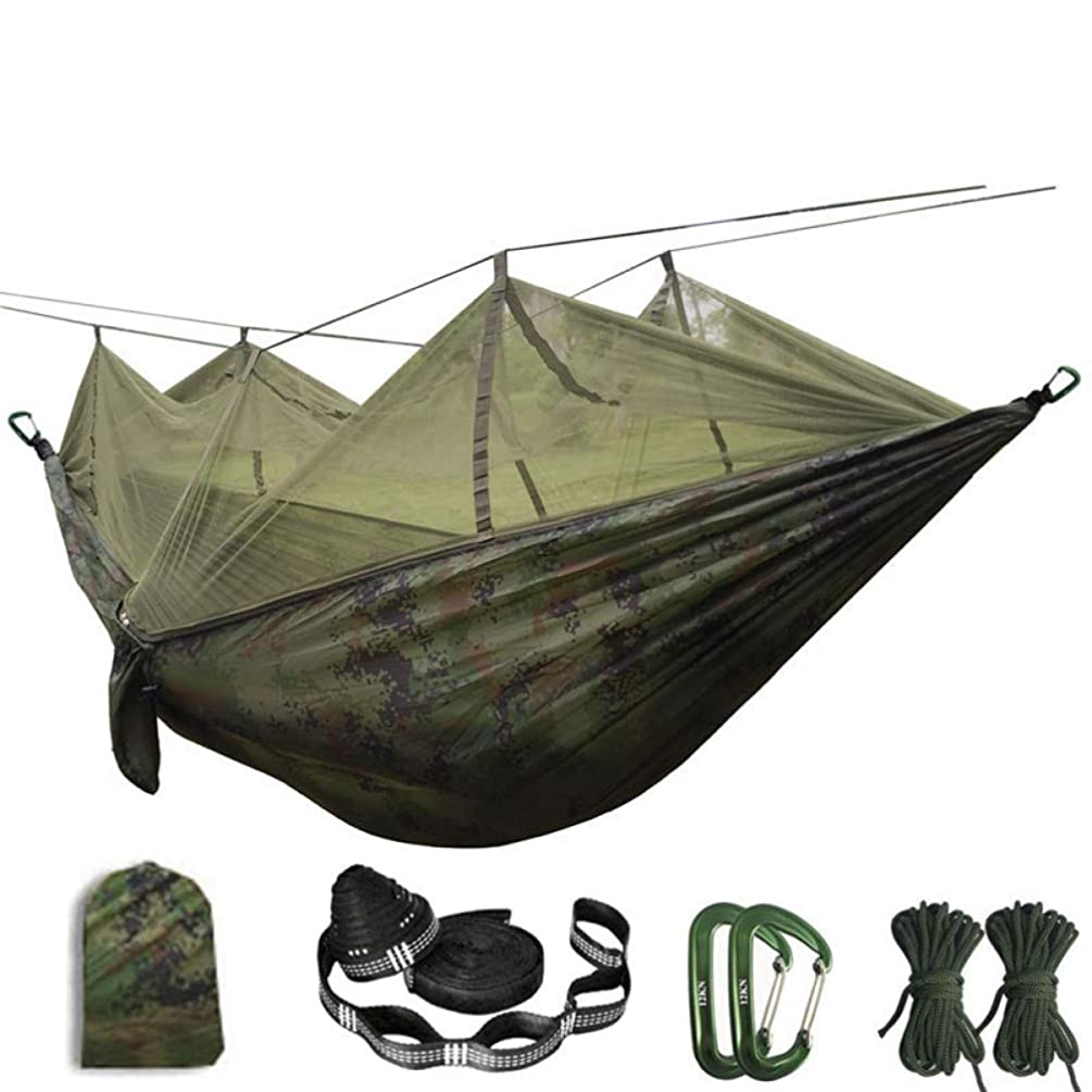 lishuhan IVrEbuBN3MB3-CamoPortable Mosquito net Hammock Double-Person Folded Into The Pouch Mosquito Net Hammock Hanging Bed for Travel Kits Camping