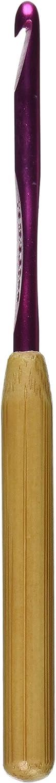 Susan Bates 5-1 2-Inch Max Tampa Mall 41% OFF Bamboo Handle Head Silvalume Crochet Hook