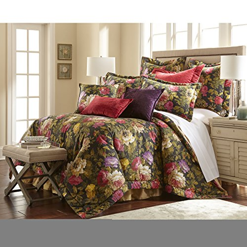 Why Choose 3 Piece Queen, Mid-Century Antique Classic Animal Print Pattern Comforter Set, Traditional Luxurious Floral Design, Contemporary Garden Flower Themed, Elegant Bedding, Adorable Black, Multi Color