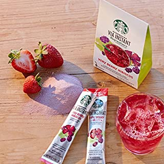 . Starbucks VIA Instant Refreshers Very Berry Hibiscus - 5 Packets (Pack of 2)