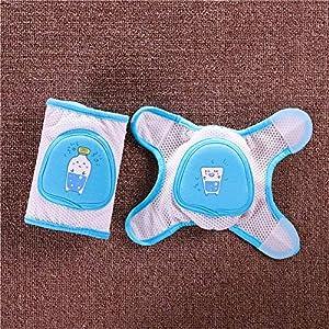 SARUI Transpirables Protector de seguridadRodilleras para bebés,Rodilleras Unisex para Gatear,Rodilleras Ajustables para el Codo,Mallas de Seguridad para niños de 0 a 5 años-6_Los 32X12.5cm