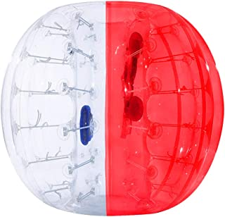 ThinkMax Inflatable Bubble Bumper Soccer Ball for Kids and Adults 5FT/1.5M 4FT/1.2M, Giant Human Hamster Zorb Ball