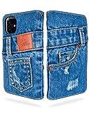 UK Trident 本格デニム iPhone 11 手帳型アイフォンケース(アイフォン11ケース)