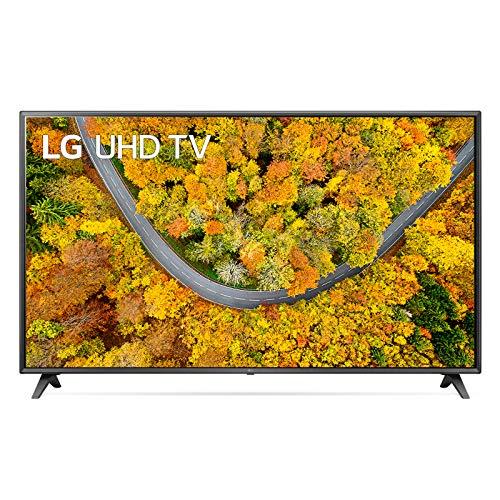 """LG 75UP75006LC Smart TV LED 4K Ultra HD 75"""" 2021 con Processore Quad Core 4K, Wi-Fi, webOS 6.0, FILMMAKER MODE, Game Optimizer, Compatibile con Google Assistant e Alexa"""