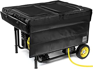 IGAN Generator Tent Running Cover, Ultra Heavy Duty Tarpaulin Enclosure, Portable All-Weather Generator Rain Shelter for Most 3500w-12000w generators, Black-1
