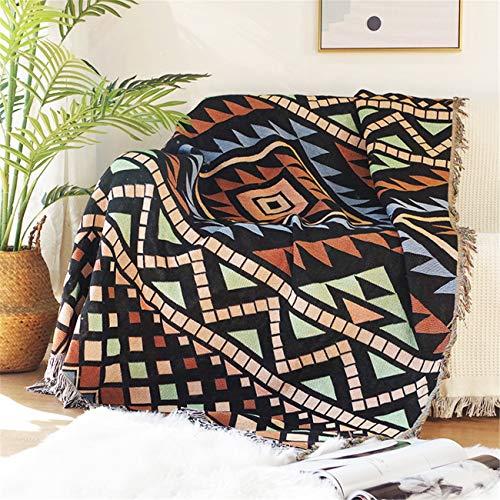 Tiro de punto manta algodón elegante elegante chic chic toalla sofá para ver la televisión o la siesta en silla, sofá y cama