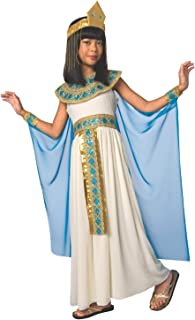 Morph Girls Blue Cleopatra Costume Kids Egyptian Princess Dress Queen of The Nile Outfit - Large (9 - 11 Years)