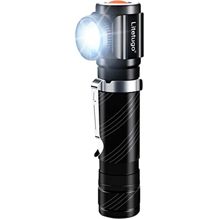 Details about  /90Degree Twist Led Flashlight Rotary Clip 1000LM Waterproof Magnet Mini Lighting