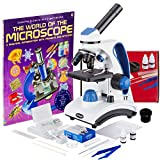 AmScope 40X-1000X Dual LED Light Student Microscope Package with Optical Glass...
